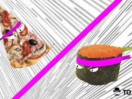 Pizza vs sushi