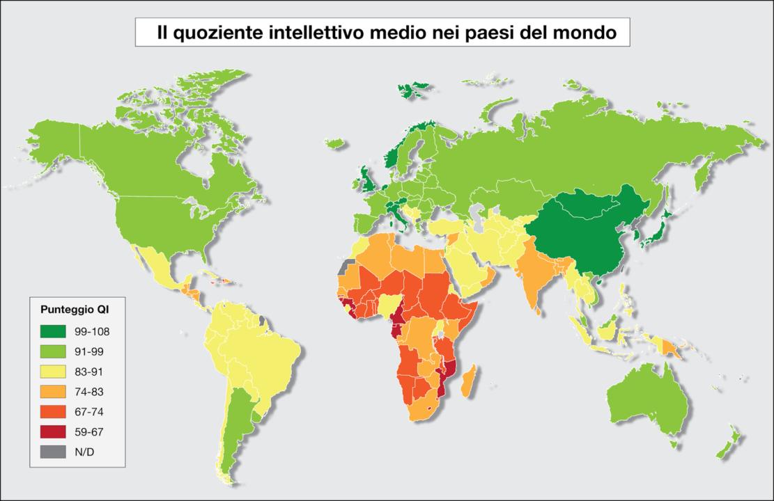 Mappa del QI mondiale