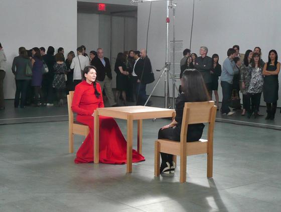 Marina Abramović, The Artist Is Present, MoMa, New York, 2010.