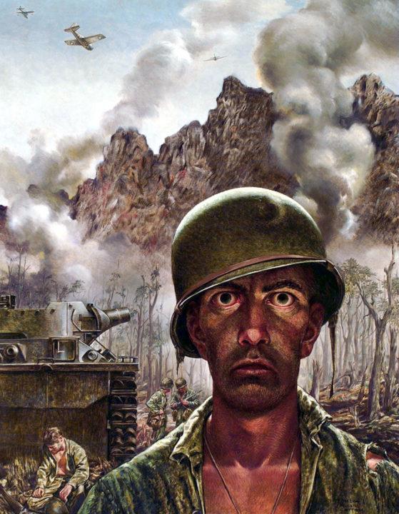 """Lo sguardo assente di un soldato in guerra nell'opera di Thomas Lea - """"The 2,000 Yard Stare"""""""